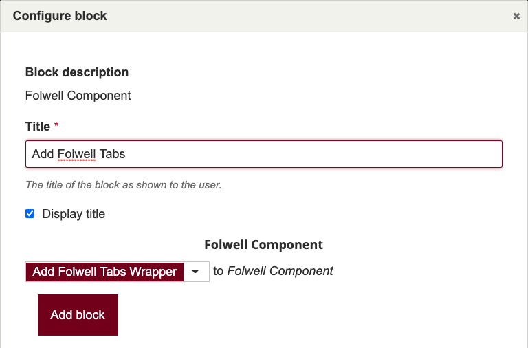 configure tabs block example