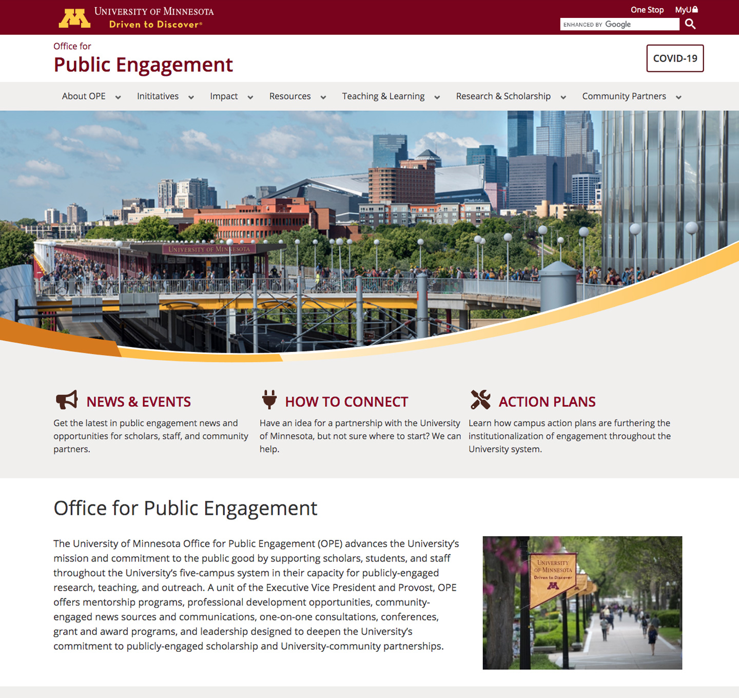 Public engagement website screenshot